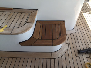 Teak-deck-leading-edge