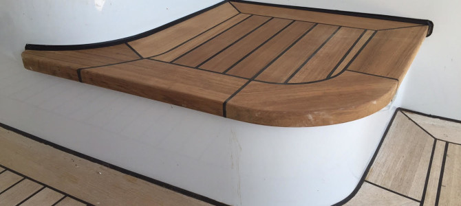 Teak Step Installation